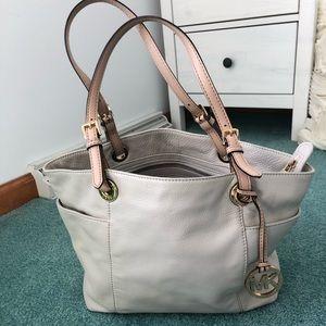 White leather Michael Kors handbag